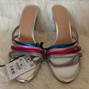 Zara silver, pink, turquoise, red sandal